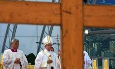 Papa Francisco na missa de envio Foto: AFP PHOTO / GABRIEL BOUYS