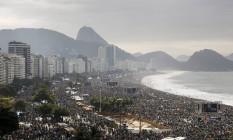 O público estimado pela organização da Jornada Mundial da Juventude era de 3 milhões de pessoas. Foto: Agência O Globo