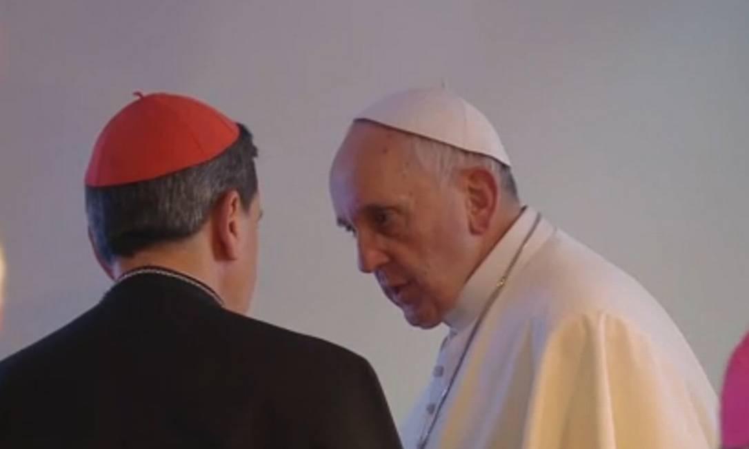 Papa Francisco no encontro com Celam, no Sumaré Foto: Reprodução