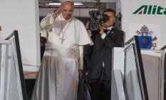Despedida do Papa Francisco na Base Aerea do Galeão Foto: Alexandre Cassiano / O Globo