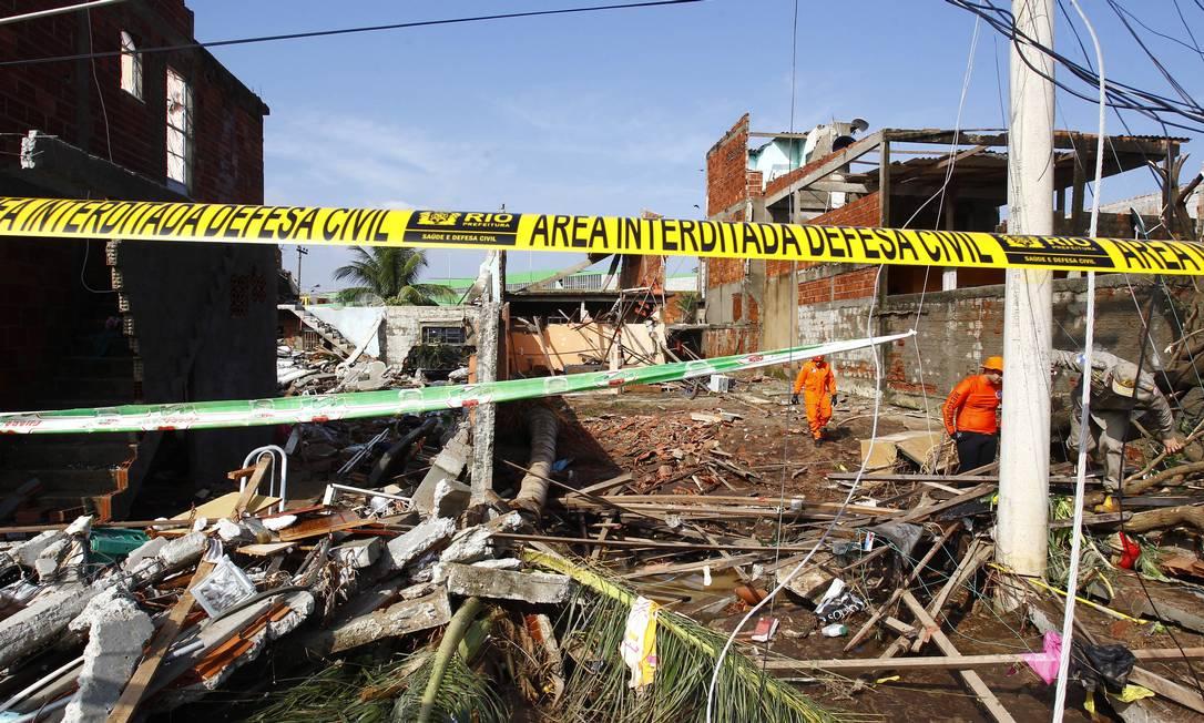 A área atingida foi interditada pela Defesa Civil Pablo Jacob / Agência O Globo