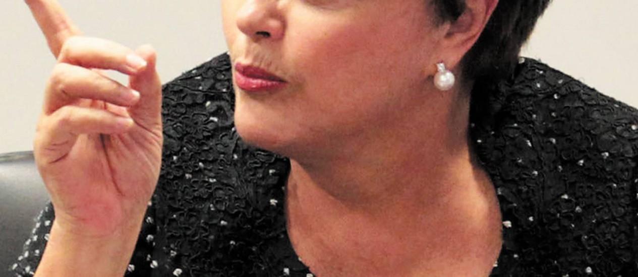 Presidente da República, Dilma Rousseff Foto: O Globo / Givaldo Barbosa