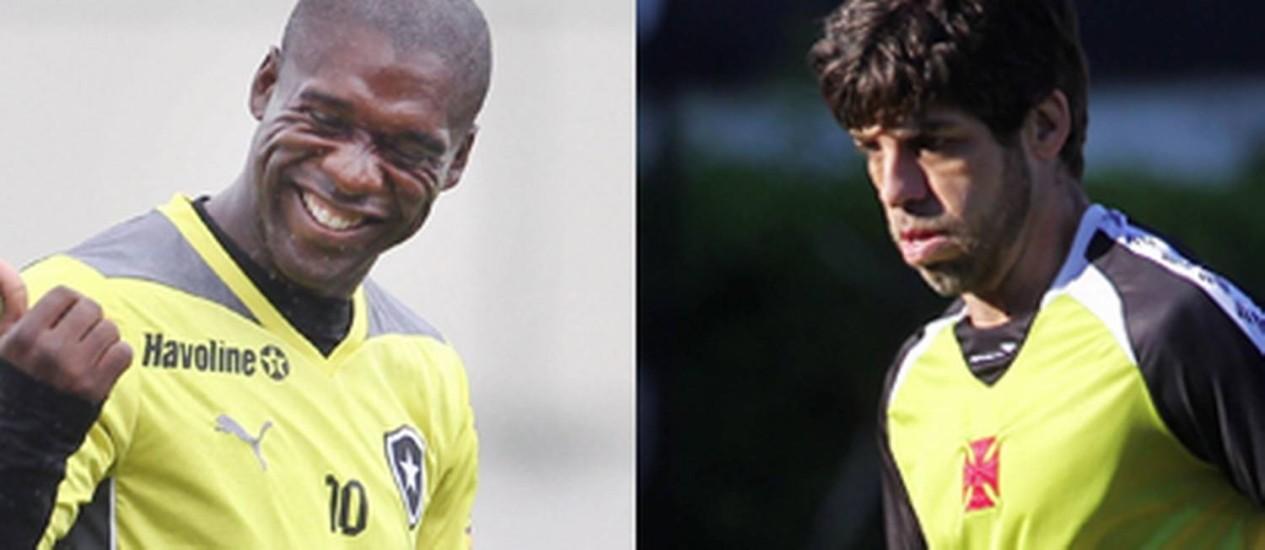 Os veteranos Seedorf e Juninho Foto: Arquivo O Globo