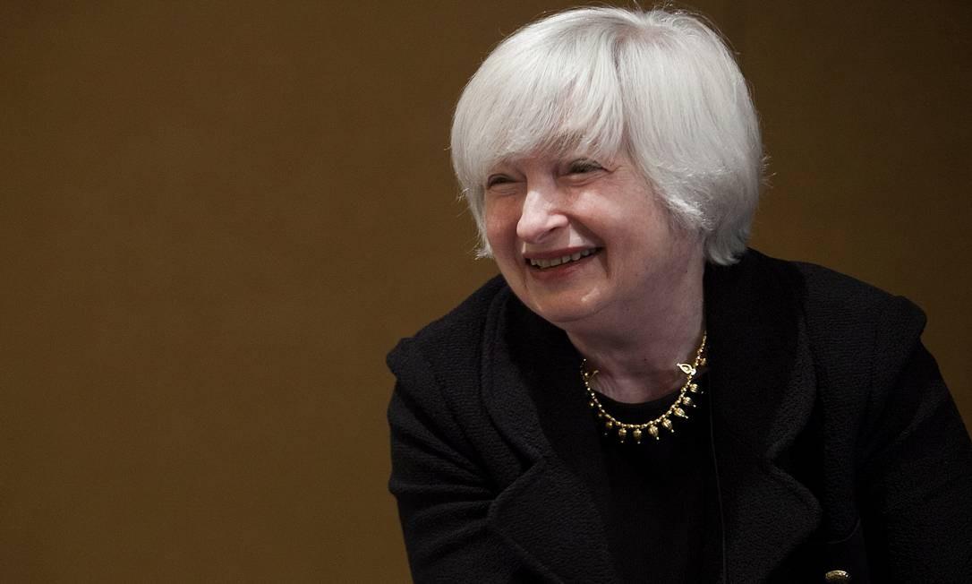 Vice-presidente do Conselho do Fed, Janet defende maior controle sobre o mercado financeiro, para horror dos neoliberais Foto: Bloomberg