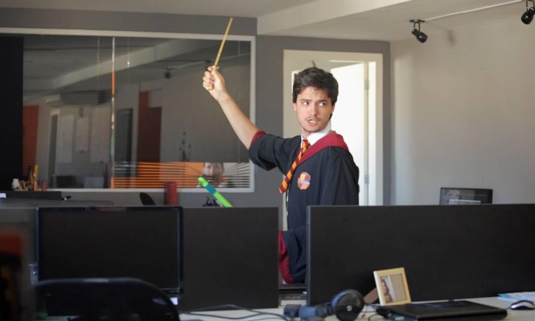 Felipe Neto em cena de 'A toca', pra Netflix Foto: Divulgação
