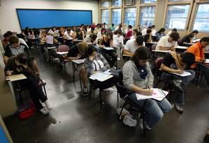 Estudantes fazem as provas do Enem na UERJ Foto: Pablo Jacob / Agência O Globo