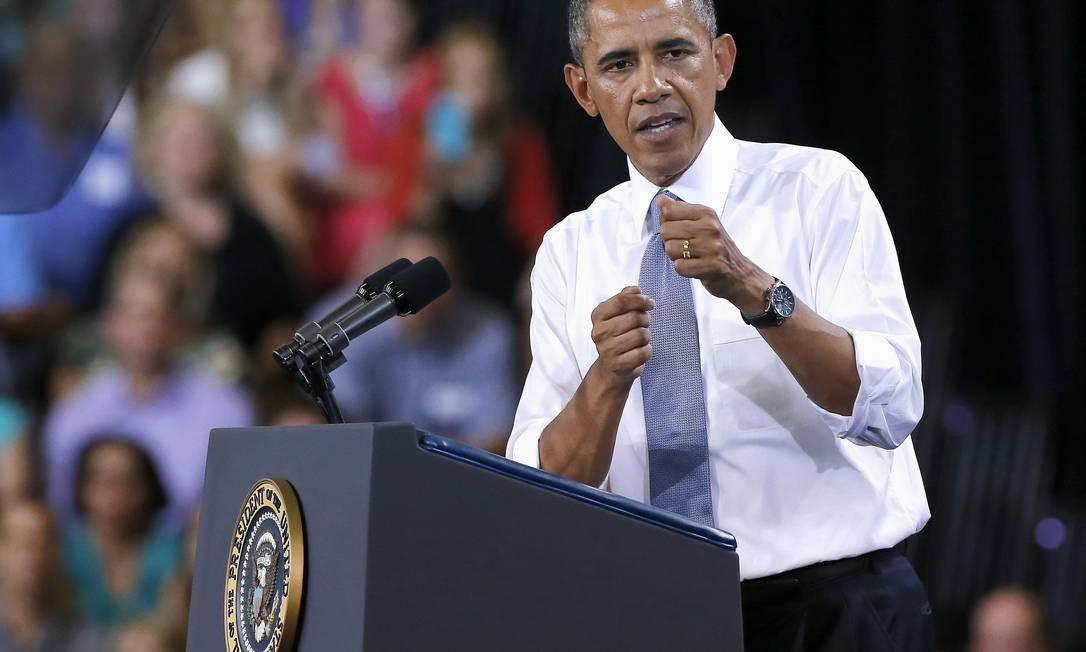 Presidente Barack Obama discursa em Phoenix, no Arizona Foto: Matt York / AP