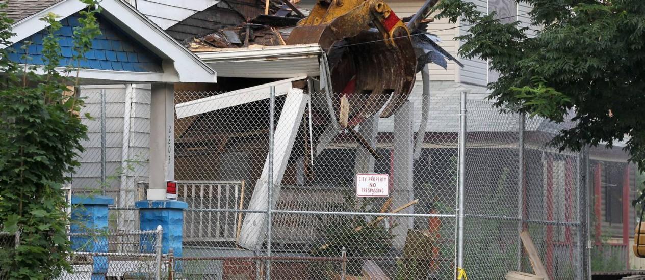 Residência de Ariel Castro foi chamada pela mídia americana de 'a casa dos horrores' Foto: Marvin Fong / AP
