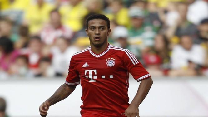 Thiago Alcântara em ação pelo Bayern de Munique  convocado para a amistoso  da seleção da bfb64d7968874