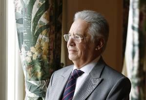 Ex-presidente Fernando Henrique Cardoso participa de evento no Copacabana Palace Foto: O Globo / Ana Branco
