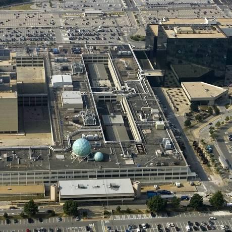Base da Agência de Segurança Nacional dos Estados Unidos em Fort Meade, Maryland Foto: PAUL J. RICHARDS / AFP