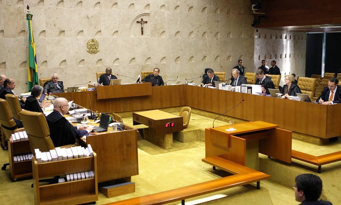 Onze ministros do Supremo julgam os recursos do mensalão; dois não participaram da etapa anterior: Teori Zavascki e Luís Roberto Barroso Foto: / Foto: STF