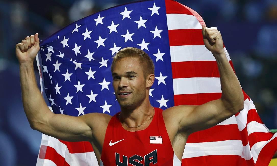 Nick Symmond foi o primeiro atleta a dedicar uma conquista Mundial de Atletismo aos homossexuais russos Foto: Denis Balibouse/Reuters