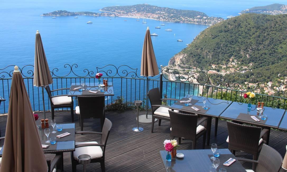 Vista da hotel Le Chèvre D'Or, em Èze Foto: Bruno Agostini / O Globo