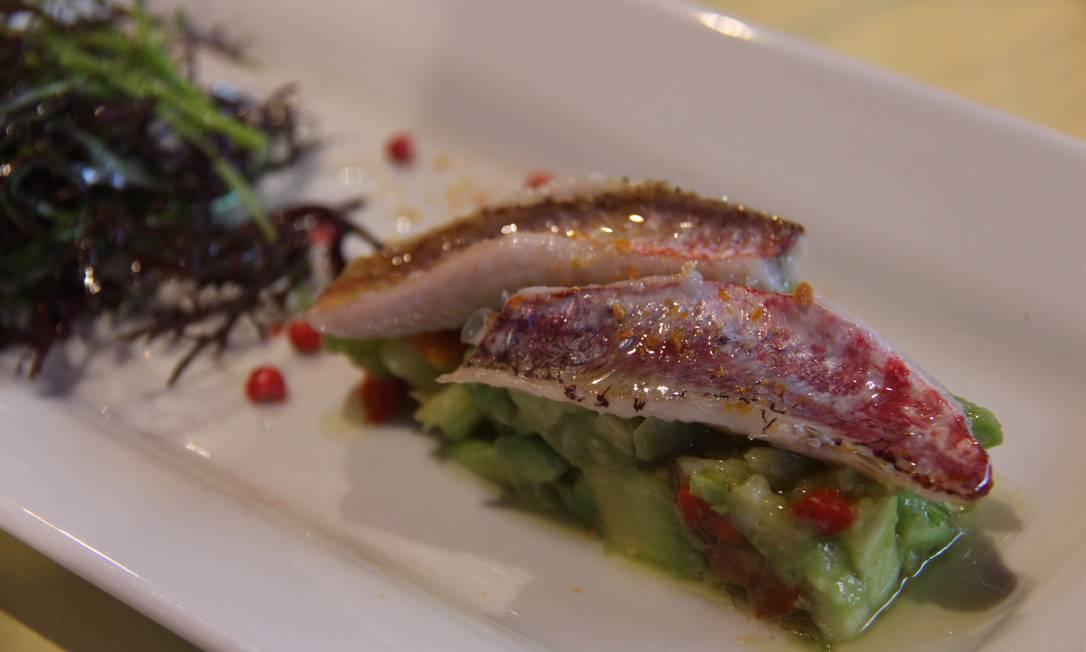Nice também tem suas delícias, como esta trilha sobre guacamole, especialidade do restaurante L'Ane Rouge. Bruno Agostini / O Globo