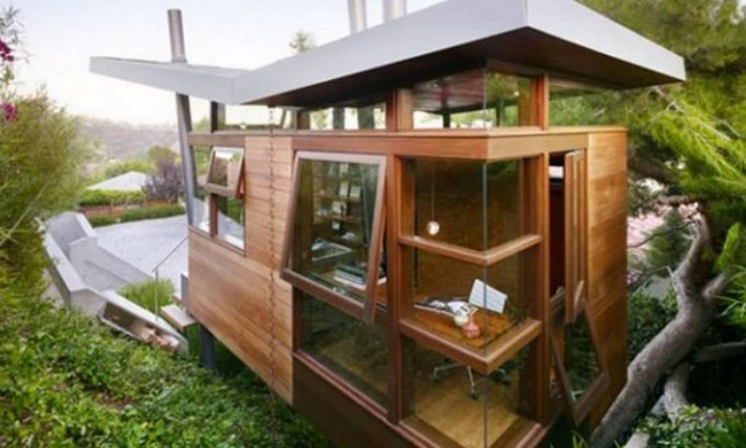 Uma casa da árvore que serve de escritório: quem não gostaria? Foto: Reprodução da internet
