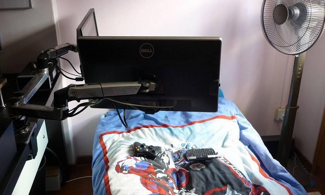 Pura mordomia: que tal trabalhar sem levantar da cama?! Foto: Reprodução da internet