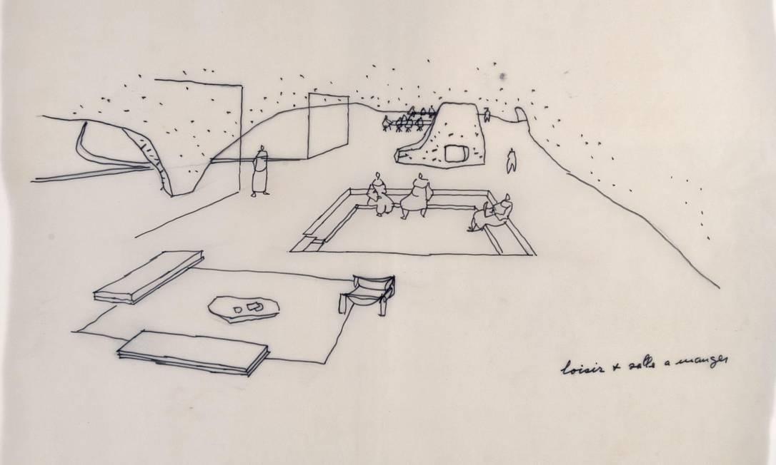 Centro Espiritual dos Dominicanos. Projeto para padres franceses, de 1967, nunca foi construído Foto: Divulgação/ Fundação Niemeyer