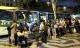 Ponto de ônibus na Central do Brasil