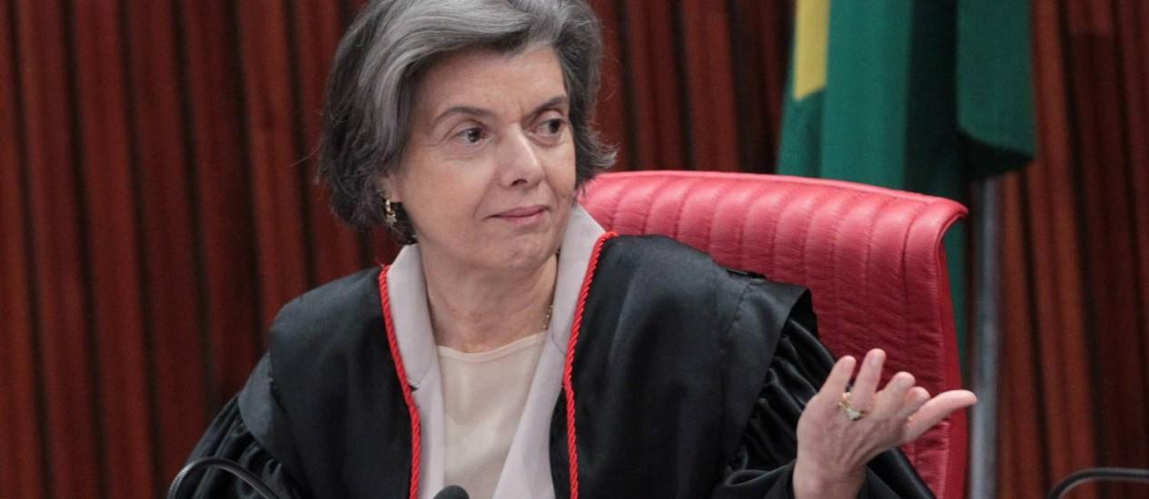 A ministra Cármen Lúcia, do STF Foto: Givaldo Barbosa / O Globo