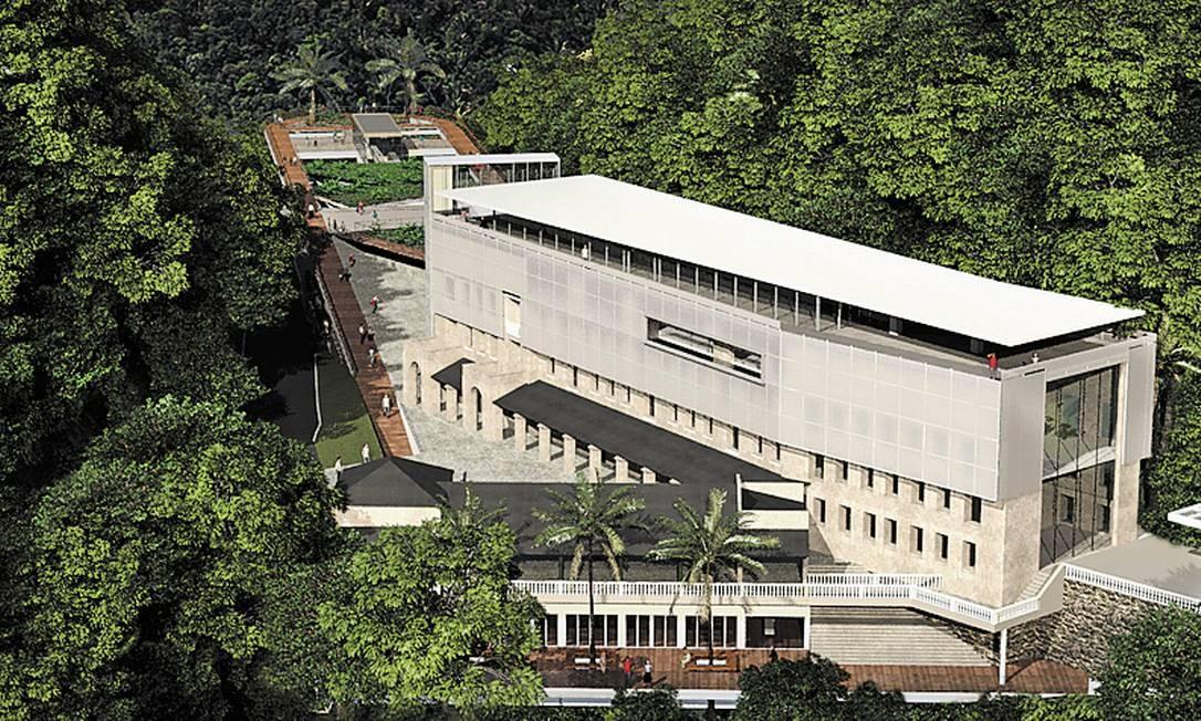 A maquete de como ficará o complexo turístico Foto: Divulgação/Consórcio Paineiras-Corcovado