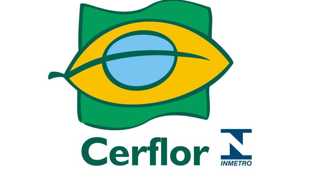 O símbolo do Cerflor é responsabilidade do Inmetro. Ele está presente em produtos florestais, como madeira e papel. Garante que o produtor tem responsabilidade ambiental e social. Foto: reproduções