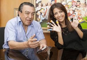 Mauricio de Sousa e Thalita Rebouças: parceria no livro 'Ela disse, ele disse - O namoro' Foto: Valentino Mello / Divulgação