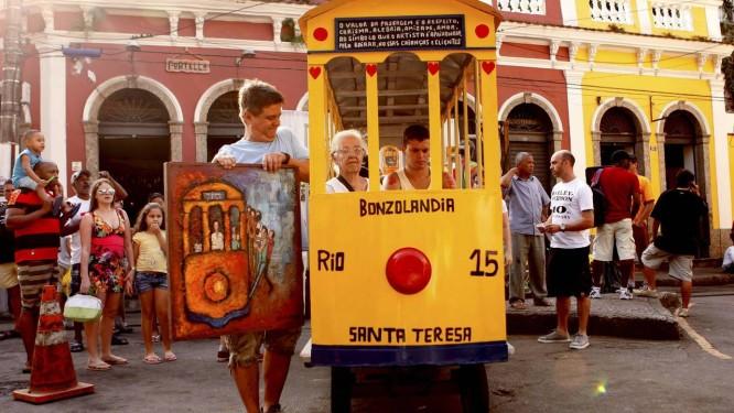 Grupo realiza ato no Largo do Guimarães Foto: Gustavo Stephan / O Globo