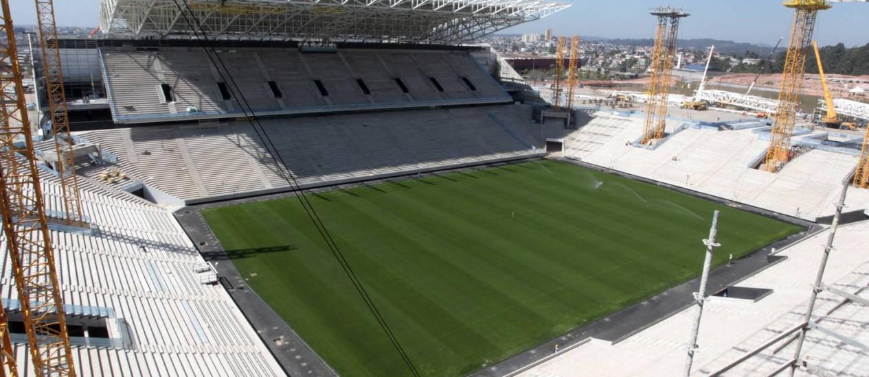 A seleção brasileira vai entrar em campo no Itaquerão no dia 12 de junho, na abertura da Copa Foto: Eliaria Andrade / Agência O Globo