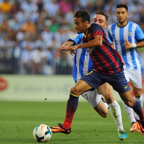 Neymar atuou 30 minutos na vitória do Barcelona sobre o Málaga Foto: Jorge Guerrero / AFP