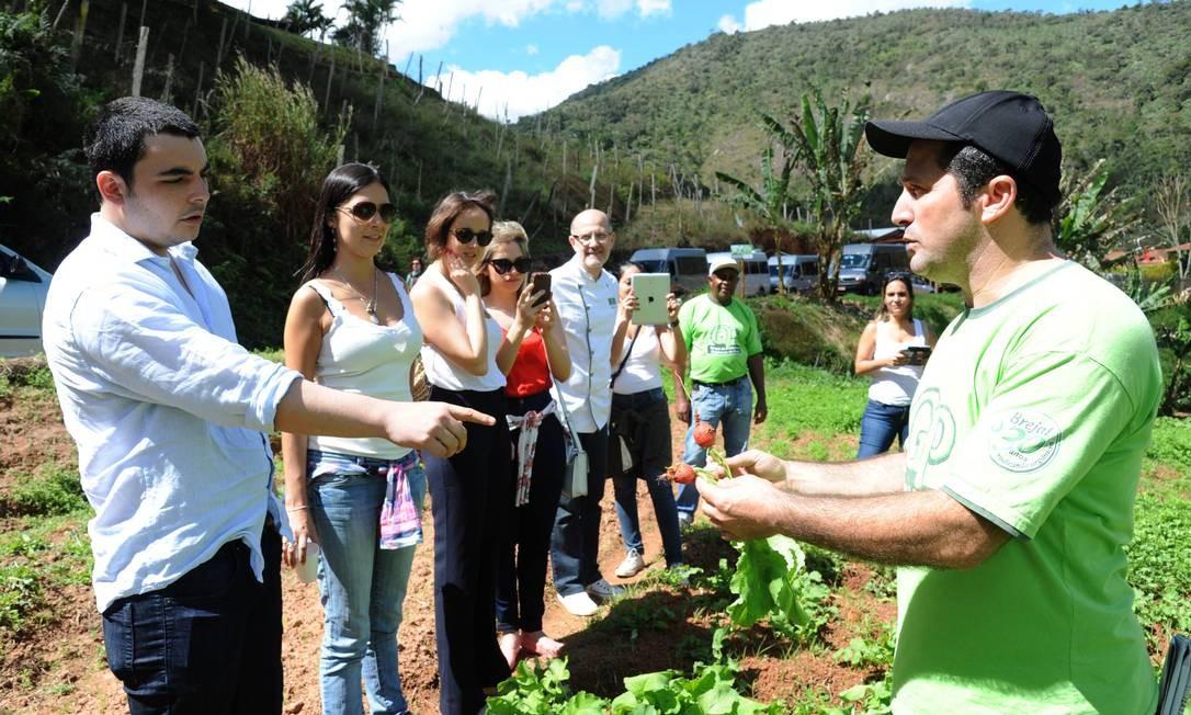 O passeio teve como anfitriões os integrantes do Grupo de Produtores de Orgânicos do Brejal (GP) Adriana Lorete/O Globo