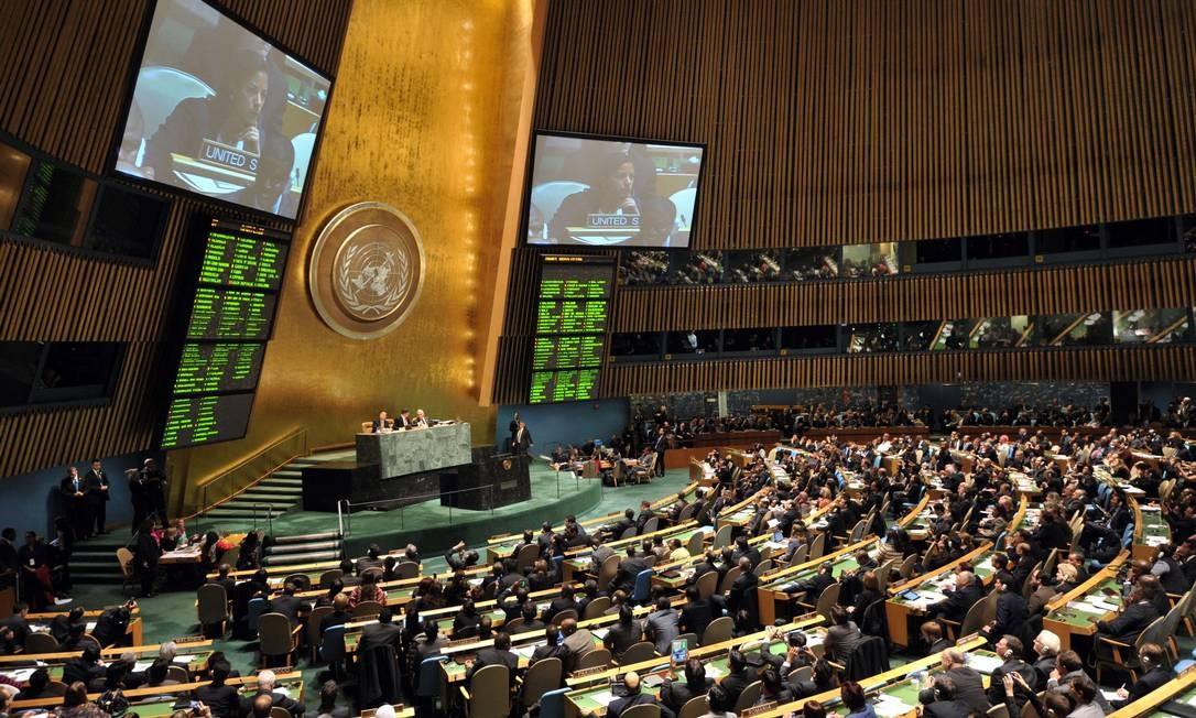 Assembleia Geral da ONU, em novembro do ano passado Foto: STAN HONDA / AFP