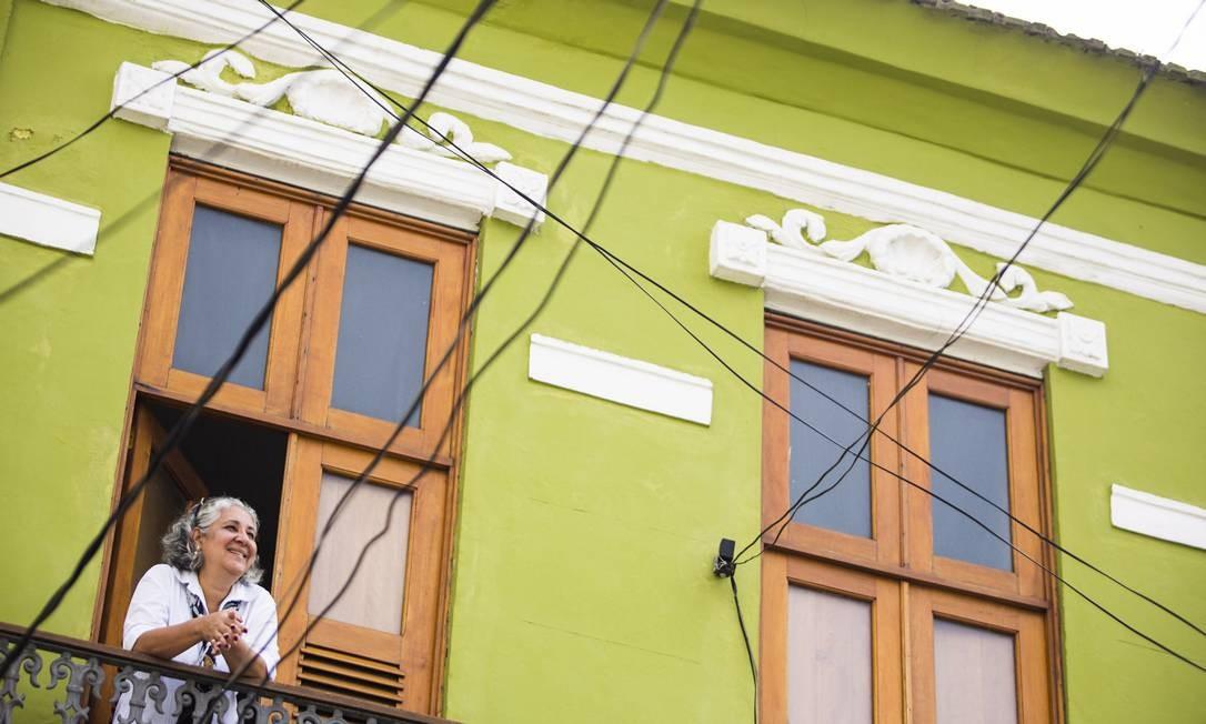 Moradores do Centro: Rosana Sant´Anna num sobrado de 1876 Foto: Fabio Seixo / Fabio Seixo