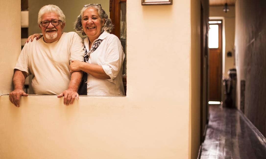 Carlos Braga e Rosana vivem no Centro há quase 30 anos Foto: Fabio Seixo / Fabio Seixo