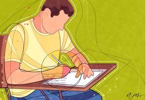 Faça os Simulados O GLOBO para se preparar para o Enem 2013 Foto: Ilustração de André Mello