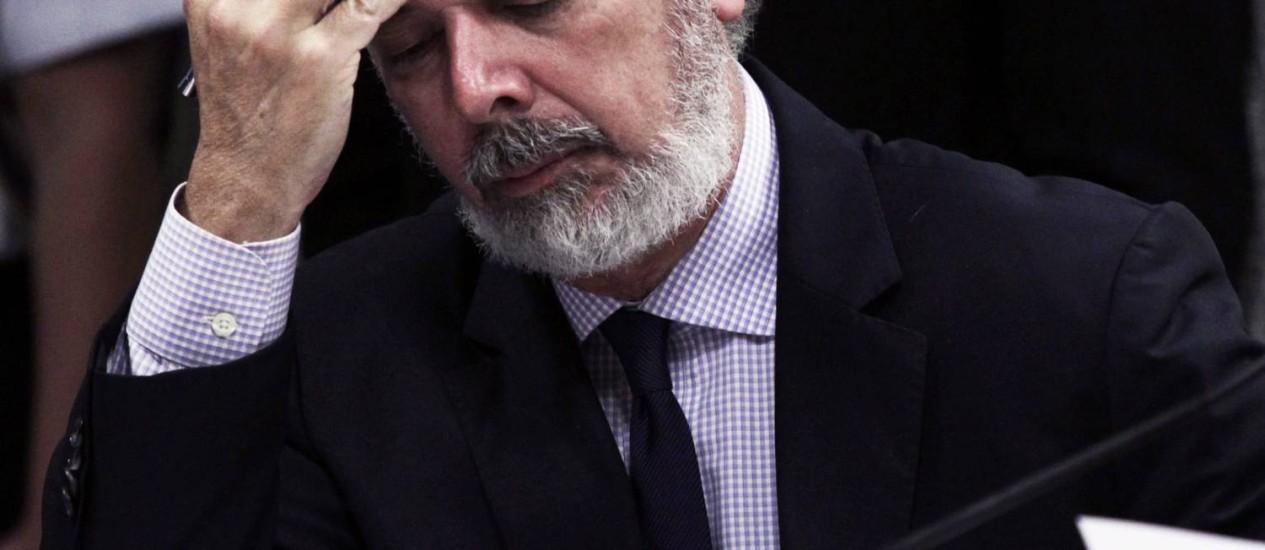O ministro das Relações Exteriores, Antonio Patriota, pediu demissão após fuga de senador asilado na Embaixada brasileira em La Paz para o Brasil Foto: Jorge William / Agência O Globo