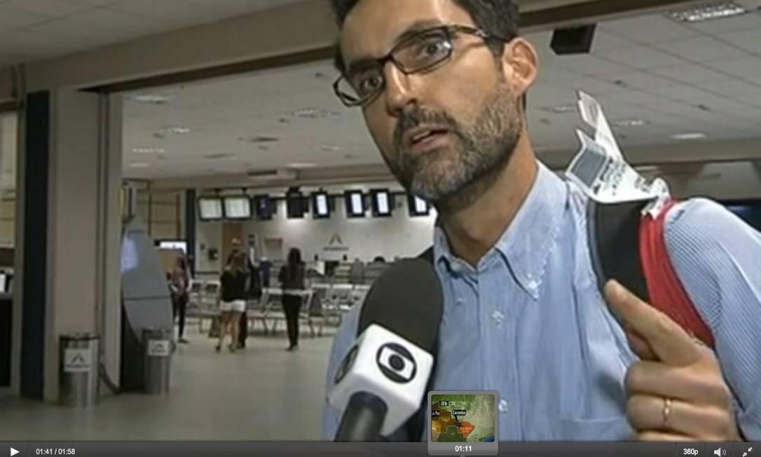 Diplomata Eduardo Saboia diz que não se arrependeu de ter ajudado na fuga do senador boliviano Roger Pinto Molina Foto: Terceiro / Agência O Globo