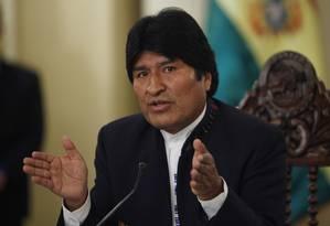 Evo Morales pede que Brasil envie Roger Pinto ao país Foto: Juan Karita / AP