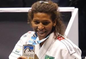 Rafaela Silva e o primeiro ouro feminino do Brasil em Mundiais Foto: SERGIO MORAES / REUTERS