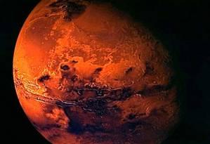 Marte pode ter sido o berço da vida que existe na Terra Foto: Reuters/ESA