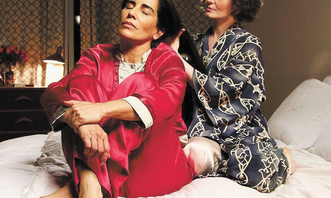 A brasileira Gloria Pires e a australiana Miranda Otto, como Lota e Bishop: elogios na imprensa americana Foto: Divulgação