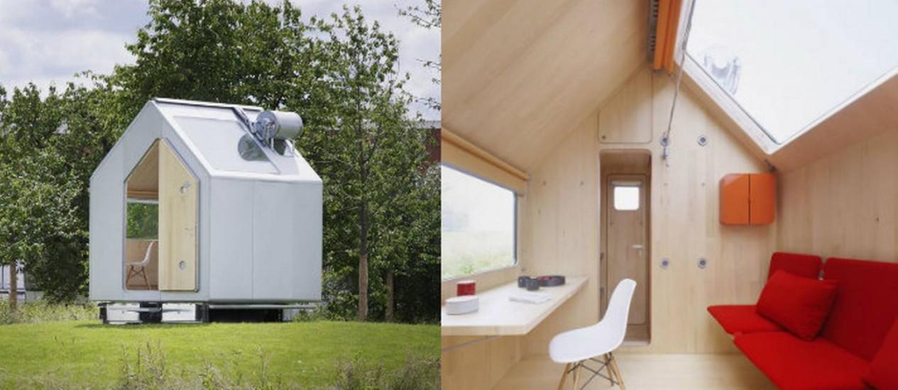 Casa minimalista feita de alumínio por fora e madeira por dentro Foto: Vitra