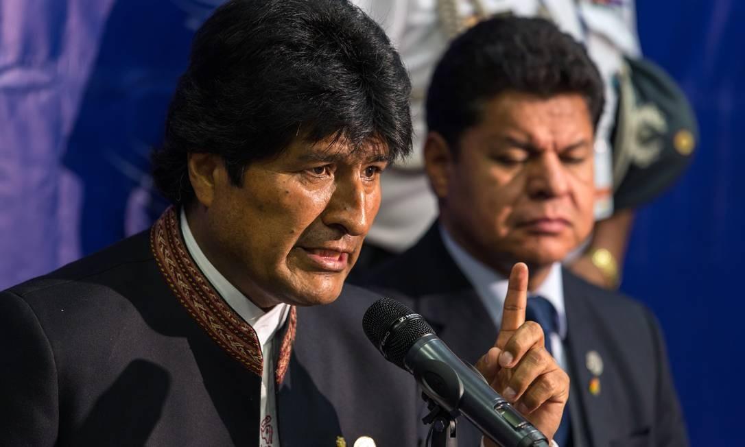 'Ninguém vai nos dividir, ninguém vai nos confrontar', declarou Morales Foto: Arquivo / AFP