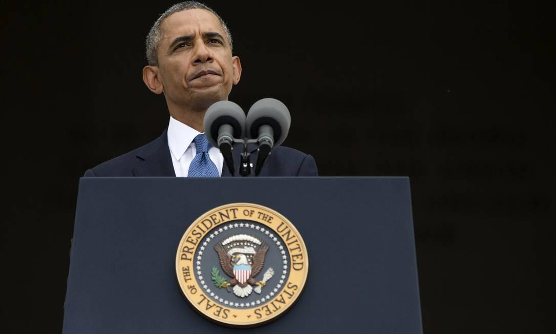 Dilema. O presidente faz um discurso em Washington: Obama Foto: Evan Vucci / AP/28-8-2013