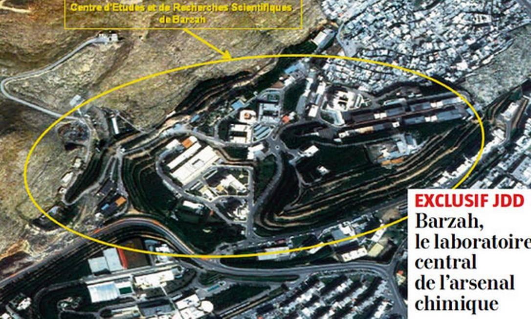 Laboratório de armas químicas do regime sírio, segundo os serviços secretos franceses Foto: Reprodução / LE JOURNAL DU DIMANCHE