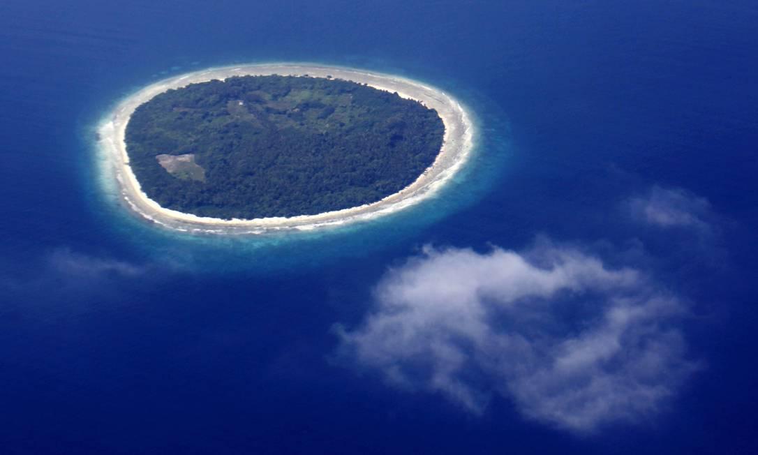 Vista aérea das ilhas Maldivas Foto: REINHARD KRAUSE / REUTERS/MALDIVES ENVIRONMENT