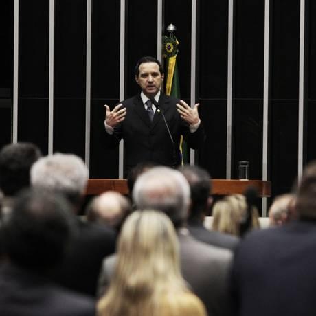 Doandon falou aos deputados na última quarta-feira, durante sessão que manteve seu mandato - Foto: Jorge William / Agência O Globo