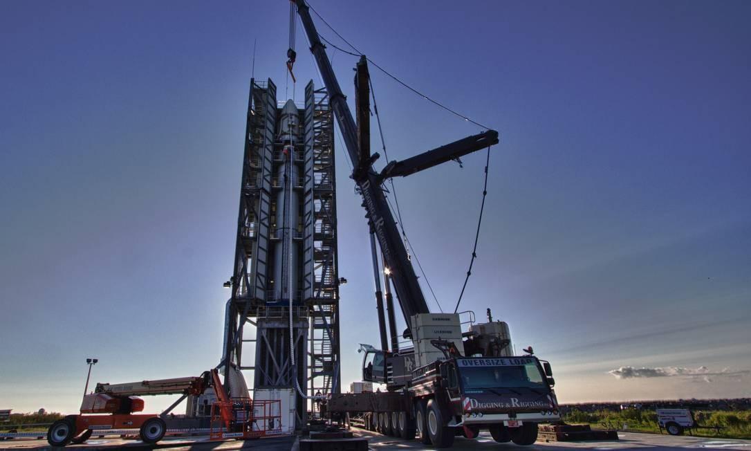 Preparação para a decolagem da sonda que será enviada à lua Foto: TERRY ZAPERACH / AFP