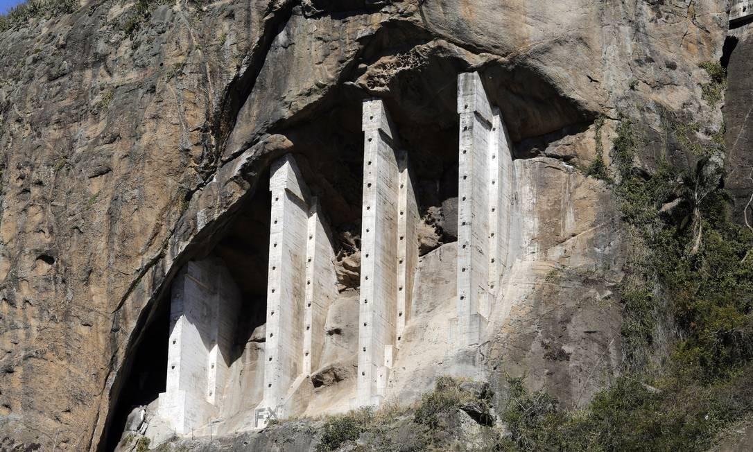 Obra de contenção no Morro do Cantagalo é da década de 1960 Foto: Fabio Rossi / Agência O Globo