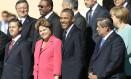 Os presidentes Barack Obama, dos EUA, e Dilma Rousseff, do Brasil na foto dos líderes do G-20 Foto: Ivan Sekretarev / AP